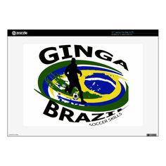 "Ginga Big logo black/yellow.blue 15"" Laptop Skin Custom Brandable Electronics Gifts for your buniness #electronics #logo #brand"
