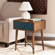 Mid-Century Modern Style Furniture from Big-Box Stores | Apartment Therapy (blue end table also available from All Modern)
