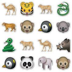 Wild Animal Emojis, $16, animal emoticon stickers by Emoji Stickers !!