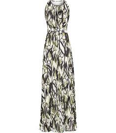 Reiss Ltd Reiss Winnie Pleated Print Maxi Dress   Clothing