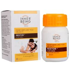 ‎Special Offers‬ Get 5% Discount + 15% Cash back instantly on every product Inner Being Restor for Men, 30 capsules - Wellness Mall