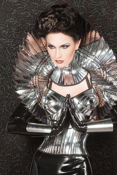 apocalyptic goddess bolero sci fi robot futuristic stole by divamp