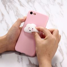 Squishy Phone Case For iPhone 6 & & Lovely Cloud Pattern Squeeze Relief Squishy Dropproof Protective Back Cover Case Cellphone Case, Cool Iphone 6 Cases, Clouds Pattern, Plus Belle, Squishies, Apple Products, Phone Covers, Room Colors, Ipod