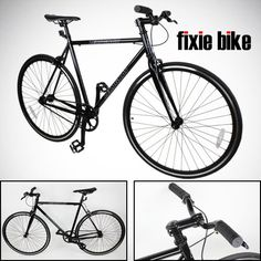 Fixed Gear Bikes - NEW 54cm Black Fixed Gear Bike Single Speed Riser Bar Fixie Road Bike Track Bicycle >>> Continue to the product at the image link.