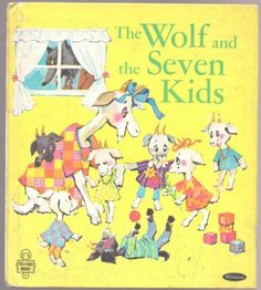 Vintage-Childrens-Tell-A-Tale-Book-THE-WOLF-AND-SEVEN-KIDS