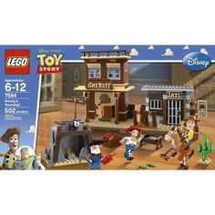 Set includes 3 minifigures: Sheriff Woody, Jessie and Stinky Pete      Catapult trap on the pavement between the jail and the sheriff office      Bullseye with bendable legs      Jail with exploding wall and sheriff?s office with safe and handcuffs