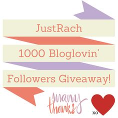Pin this image! http://www.justrach.com/2014/07/justrach-hits-1000-giveaway.html