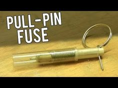 I make a spring loaded pull pin fuse. It is a very simple pull ring fuse that can be used for airsoft grenades or have a time delay added to it. It works lik. Survival Books, Survival Life Hacks, Survival Weapons, Tactical Survival, Camping Survival, Outdoor Survival, Survival Knife, Survival Prepping, Survival Skills