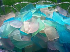 Hand-Sculpted Beach Glass Original Artisan Soap Party Favors Wedding Favors on Etsy, $3.00