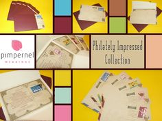 Philately Impressed Collection. More at: http://www.facebook.com/PimpernelWeddings
