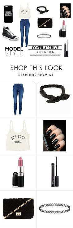 """""""Outfit for a good day :)"""" by soswitharianaa ❤ liked on Polyvore featuring NLY Accessories, Billabong, MAC Cosmetics, Forever 21, Converse, women's clothing, women, female, woman and misses"""
