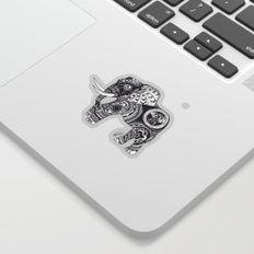 African Elephant Ink Sticker