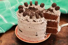 Learn how to make my Oreo Cake recipe which is a celebration in every bite. It features my new chocolate cake recipe with Oreo Cream Cheese Frosting.