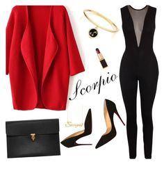 """Scorpio"" by wolfiexo ❤ liked on Polyvore featuring Tom Ford, Alexander McQueen, Christian Louboutin, Belk & Co. and Kate Spade"