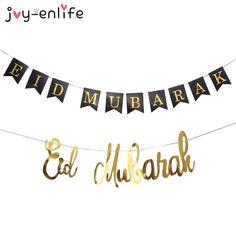 Gold/Silver/Black EID Mubarak Banner Silver Ramadan Mubarak Ramadan Kareem Bunting EID Decoration Islamic Muslim Festival Decor Eid Banner, Eid Mubarak Banner, Eid Adha Mubarak, Eid Al Adha, Eid Crafts, Craft Stick Crafts, Eid Moubarak, Printable Banner, Banner Template