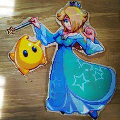 Rosalina - Super Mario Galaxy perler beads by mebs_rx7