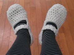 Crochet slippers...tutorial