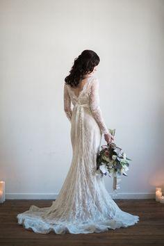 Romantic Lace Wedding Dress #weddingdresses