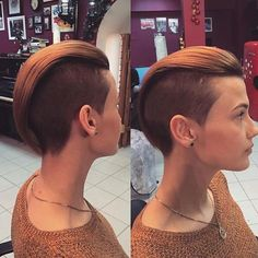 sweet Lady Pompadour hairstyle