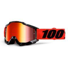 4f6ab70dd1051 Masque Cross 100% Accuri Inferno - Mirror Red Motocross, Motorbikes, Lens,  The