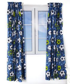 Blue football print design curtains Curtains Pencil Pleat 66 x 54 x 3 inch header tape & 3 inch hem Curtains Pencil Pleat 3 inch header tape & 3 inch hem Matching bedroom accessories also available Double Duvet Covers, Single Duvet Cover, Linen Bedroom, Linen Bedding, Duvet Sets, Duvet Cover Sets, Bed Design, Print Design, Leather Bean Bag