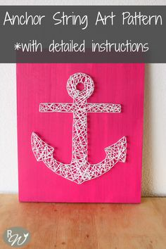 String Art Pattern String Art Kit Anchor by TheRusticWillows