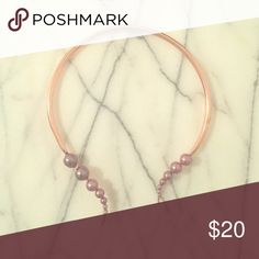 Bauble Bar rose gold choker necklace Choker, wear separated or pinched together (as shown), never worn! Bauble Bar Jewelry Necklaces
