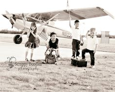 4th of July Photo Session.  Custom Tutus and bowties by Trinkets and Tutus
