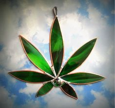 Marijuana Leaf #Bong #Pipe #Waterpipe #Stoner #Pot #Weed #Glasspipe #Teagardins #SmokeShop http://Teagardins.com