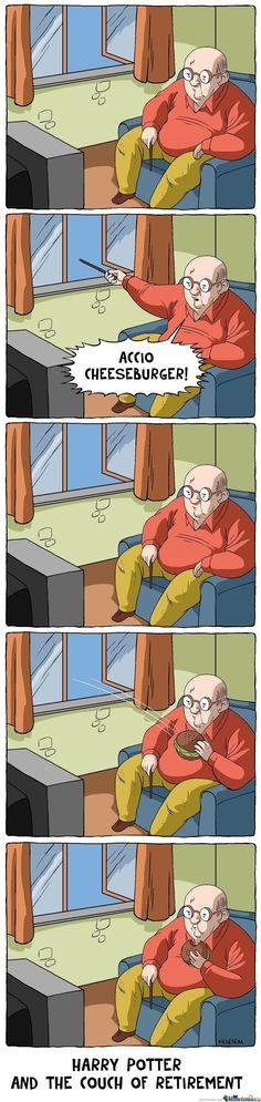 Harry Potter gets old.