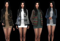 Clothing: Emma outfit recolor from Leo 4 Sims The Sims 4 Pc, Sims 4 Cas, My Sims, Sims Cc, Sexy Outfits, Girl Outfits, Female Outfits, Sims4 Clothes, Sims 4 Dresses