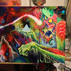 The Art of Skinner | BLOG | Behind the scenes painting Mastodon album cover!