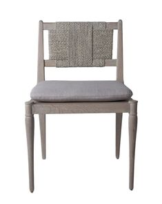 Crafted from French oak and finished with a white-washed gray hue, the Kersley Chair combines natural materials and whimsical style. Fitted with an egyptian linen seat cushion, this stool features an intricately woven back, lending both support and eye-catching detail to the design. Dining Furniture, New Furniture, French Dining Chairs, Types Of Sofas, Sofa Styling, Whimsical Fashion, Pop Up Shops, French Oak, Grey Chair