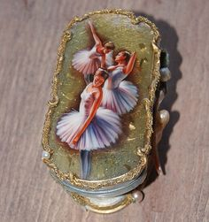 Ballerinas jewelry box by Elena and Mikhail Shenshin Melania Trump Ring, Ballerina Jewelry Box, Tribal Women, Vanitas, Casket, Decoupage, Objects, Miniatures, Brooch