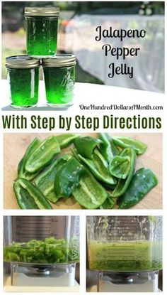 Canning 101 - How to Can Jalapeno Pepper Jelly Recipe Jalapeno Pepper Jelly, Jalapeno Pepper Recipes, canning Recipes, Jelly Recipes, Hostess Gifts Jalapeno Jelly Recipes, Pepper Jelly Recipes, Hot Pepper Jelly, Canning Jalapeno Peppers, Jalapeno Jam, Canning Pepper Jelly, Pepper Jelly Recipe Without Canning, Canned Jalapeno Hot Sauce Recipe, Hot Jelly Recipe