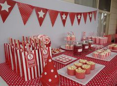 The Bluebird Nest: Red and White Party 60th Birthday, Birthday Ideas, Birthday Parties, Red Candy Buffet, Bluebird Nest, Wheres Wally, Teddy Bear Party, Sweet Corner, Dr Suess
