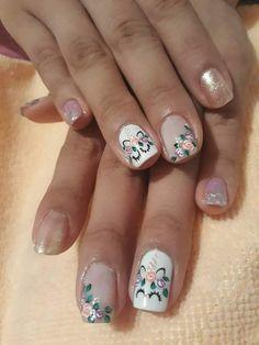 Cute Pedicure Designs, Nail Designs, Love Nails, Fun Nails, Dimond Nails, Cute Pedicures, Unicorn Nails, Manicure Y Pedicure, Cute Nail Art