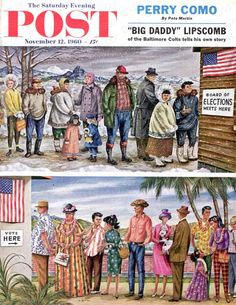 First Vote In New States by Constantin Alajalov, Nov. 11, 1960, The Saturday Evening Post.