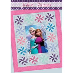 Sisters Forever Disney Frozen Anna and Elsa Quilt Kit