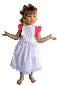 Girls Lace White Full Apron (Ages 2-8) – GermanGiftOutlet.com