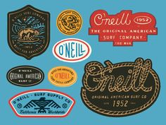 Recent graphic capsule for O'Neill - Original American Surf Co since 1952