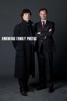 Sherlock is such a great show! Benedict Cumberbatch as Sherlock Holmes and Mark Gatiss as Mycroft Holmes. Sherlock Holmes, Sherlock Fandom, Sherlock Cast, Martin Freeman, Johnlock, Benedict Cumberbatch, Dr Who, Holmes Brothers, 2 Brothers