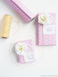 Lovely Pink Packages by GHIRLANDADIPOPCORN.com