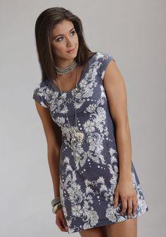 Blue Lace : Western Dress