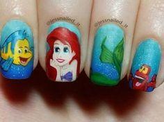 17 Diseños de uñas inspirados en 'La Sirenita'