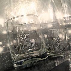 "Набор ""За Победу!"". Стопка (рюмка) + стакан (бокал). - Мануфактура Жукова - Ярмарка Мастеров"