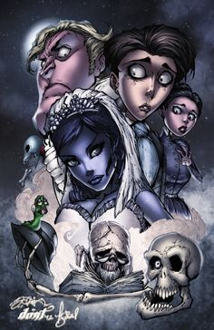 'Corpse Bride Character Collage' by Timaree Zadel on deviantART.