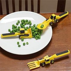 Constructive Eating Kids Cutlery Sets for toddlers are fun to use. The range includes - Construction worksite u0026 Garden Fairy placemats - Construction ... & Constructive Eating Kids Eating Utensils and Plate // Gifts for kids ...