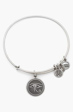 Nirvana | Serafini Amelia| Alex and Ani 'Eye of Horus' Expandable Wire Bangle available at #Nordstrom