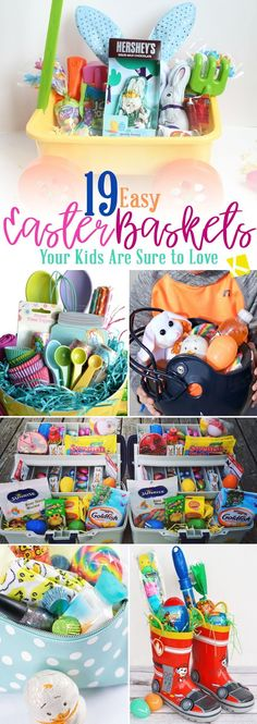 Your kids will love these creative and easy Easter basket ideas! Whether you're looking for DIY Easter basket ideas for kids, unique homemade Easter basket ideas for girls and boys, cool and simple Easter baskets for teens, or just some new creative Easter baskets to craft with your kids while home- The Krazy Coupon Lady has you covered with these simple spring solutions. Diy Gifts For Kids, Easter Crafts For Kids, Diy For Kids, Easter Gift Baskets, Christmas Gift Baskets, Easter Basket Ideas, Baby's First Easter Basket, Basket Crafts, Basket Gift